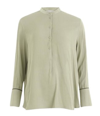 Coster Copenhagen Coster Copenhagen Shirt Blouse Piping Details Sea Grass