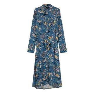 Alix Alix Western Flower Tunic Dress Sapphire Blue