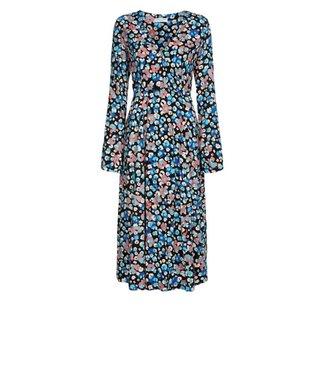 Fabienne Chapot Fabienne Chapot Claire Dress Black/Riviera Blue Leopard Blossom