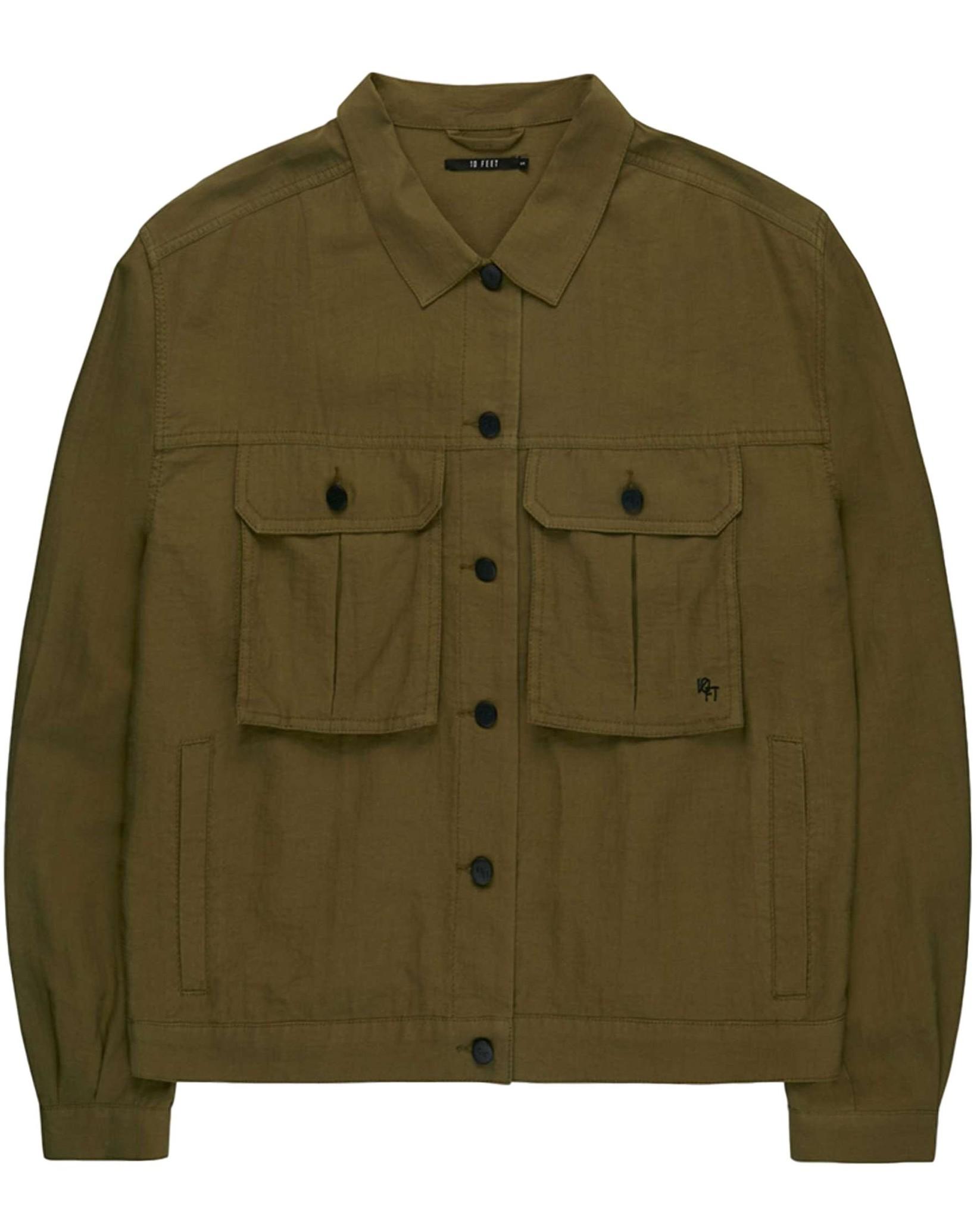 10 Feet Tencel Blend Worker Jacket Moss Roots Fashion