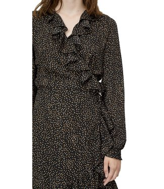 Just Female Just Female Imogene Wrap Dress Mini Dot