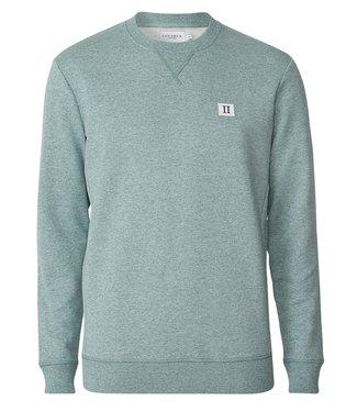 Les Deux Les Deux Piece Sweatshirt Petrol Melange/Off White
