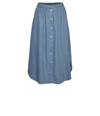 Moss Copenhagen Moss Copenhagen Lyanna HW Skirt Mid Blue Wash