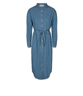 Moss Copenhagen Moss Copenhagen Lyanna Shirt Dress Mid Blue Wash