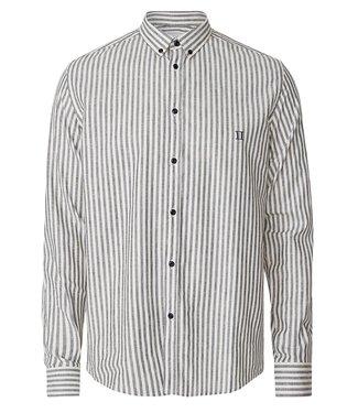 Les Deux Les Deux Simon Linen Shirt Dark Navy/Off White