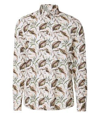 Les Deux Les Deux Latif Flower Print Shirt Off White