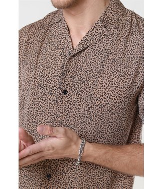Just Junkies Just Junkies Leopard Shirt S/S Camel