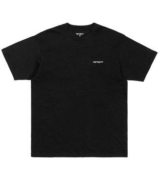 Carhartt Carhartt S/S Script Embroidery T-shirt Single Jersey Black
