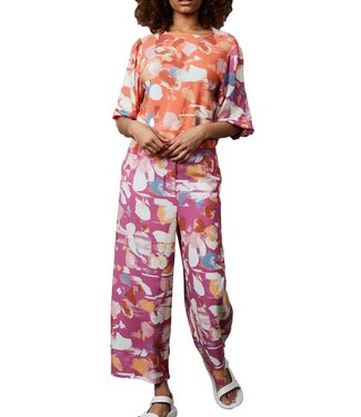 Native Youth Native Youth Dafne Jumpsuit Peach With Multi Print