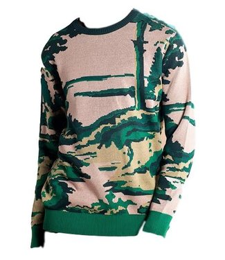 Dedicated Dedicated Sweater Mora Deep Forest Pink