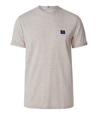 Les Deux Les Deux Piece T-shirt Light Brown Melange/Navy-Lt. Blue