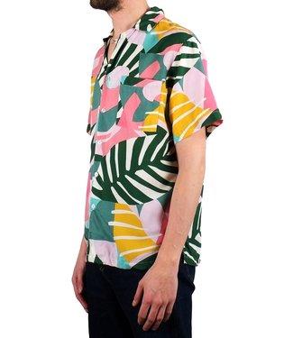 Dedicated Dedicated Shirt Short Sleeve Collage Leaves Pink