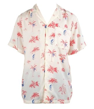 Dedicated Dedicated Shirt Short Sleeve Monkey Trees Off White