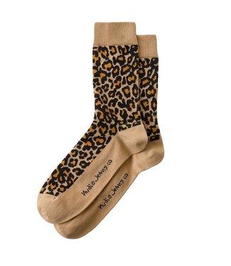 Nudie Jeans Nudie Jeans Olsson Leopard Beige Socks