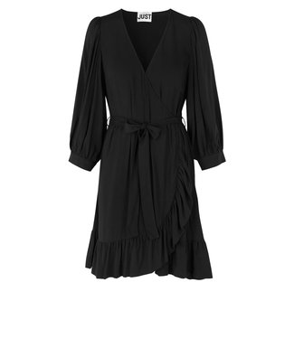 Just Female Just Female Ellery Wrap Dress Black