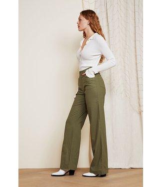 Fabienne Chapot Fabienne Chapot Sofi Trouser Olive Green Uni