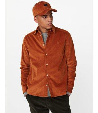 Les Deux Les Deux Felix Corduroy Shirt Rusty Brown