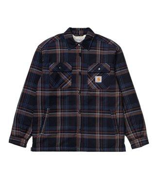 Carhartt Carhartt Aiden Shirt Jacket Check Dark Navy