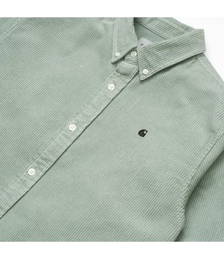Carhartt Carhartt L/S Madison Cord Shirt Frosted Green / Black