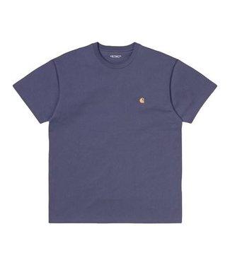 Carhartt Carhartt S/S Chase T-shirt Cold Viola / Gold