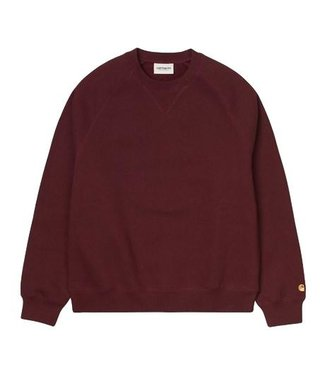 Carhartt Carhartt Chase Sweat Bordeaux / Gold