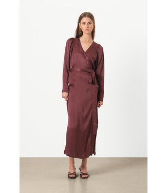 Second Female Second Female Lily Wrap Dress Decadent Chocolate