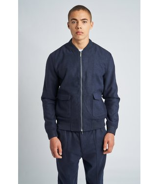 Native Youth Native Youth Luther Wool Bomber Jacket Navy