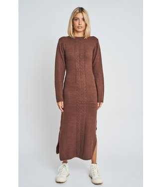 Native Youth Native Youth Women Adley Knitted Midi Dress Brown