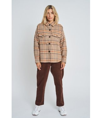 Native Youth Native Youth Women Dominica Wool Check Shacket