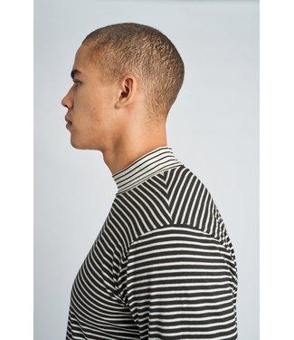 Native Youth Native Youth Men Jameson Long Sleeve High Neck Stripe T-shirt Black