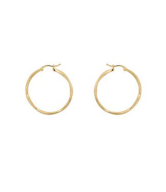 Anna + Nina Anna + Nina Dazzling Hoop Earrings Brass Goldplated 20-2M902013BGP
