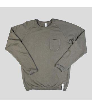 Denim Lab Denim Lab Frame Sweater Kettle Dry Cotton Army Green