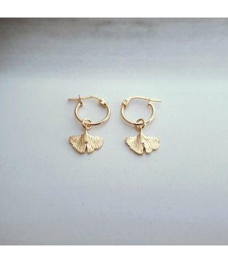 Deb Today Deb Today Tiny Ginkgo Earrings Set Gold