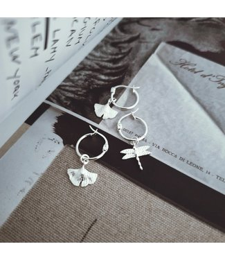 Deb Today Deb Today Tiny Ginkgo Earrings Set Silver
