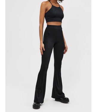 Roots Fashion Roots Fashion Glitter Flared Pants Black