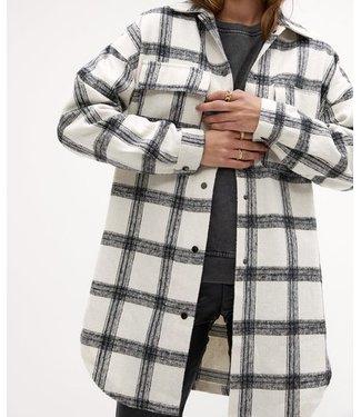 Roots Fashion Roots Fashion Geruite Jacket Off White