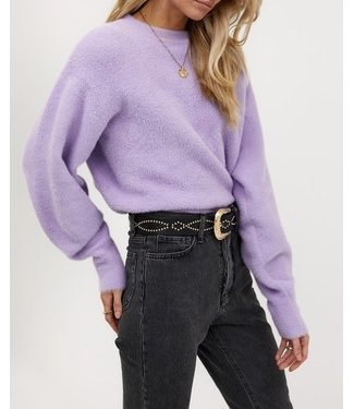 Roots Fashion Roots Fashion Fluffy Sweater Lila