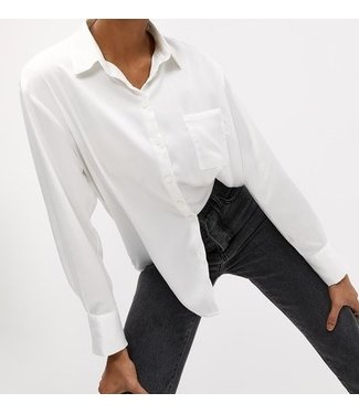 Roots Fashion Roots Fashion Satin Look Blouse White