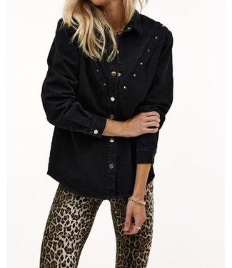 Roots Fashion Roots Fashion Denim Jacket Studs Black