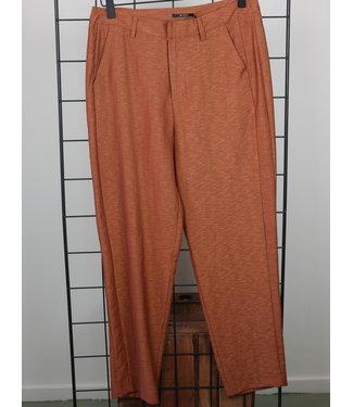 10 Feet Tailored Pants In Shiny Linen Blend Cinnamon