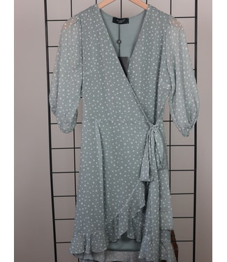 Sisters Point Sisters Point Mica Wrap Dress Dot Mineral