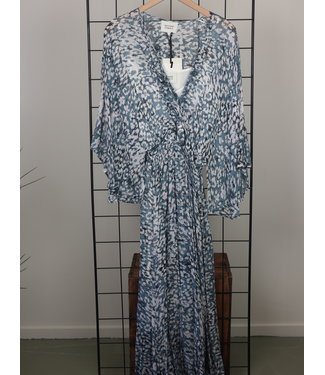 Second Female Second Female Clouds Maxi Dress Faded Denim