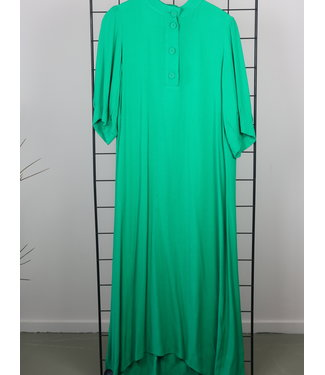 Coster Copenhagen Coster Copenhagen Dress With Buttons And Waistband Emerald Green