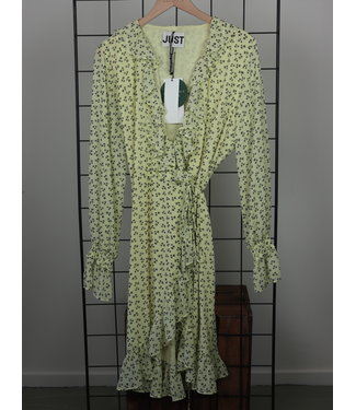 Just Female Just Female Percy Wrap Dress Palm Aop
