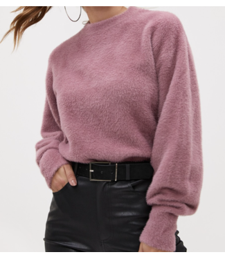 Roots Fashion Roots Fashion Fluffy Sweater Mauve