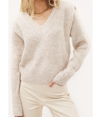 Roots Fashion Roots Fashion Knit V-hals Sand
