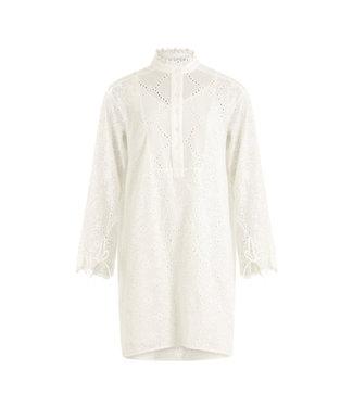 Coster Copenhagen Coster Copenhagen Dress Frill Detail Broderie Anglaise White