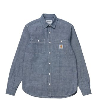 Carhartt Carhartt L/S Clink Shirt CO Kirksville Blue Chambray Blue Rinsed