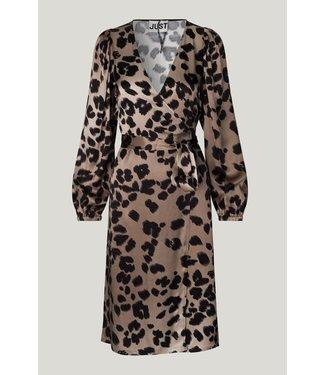 Just Female Just Female Laguna Wrap Dress Leopard