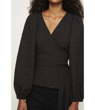Just Female Just Female Toda Wrap Blouse Black